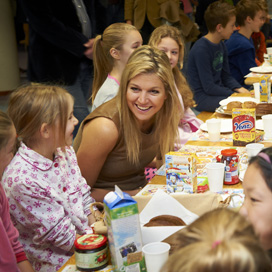 Prinses Máxima ontbijt op basisschool