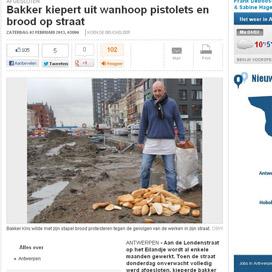 Belgische bakker gooit brood op straat