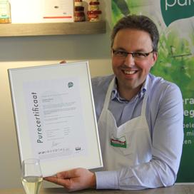 Wisse ontvangt eerste Pure-Certificaat