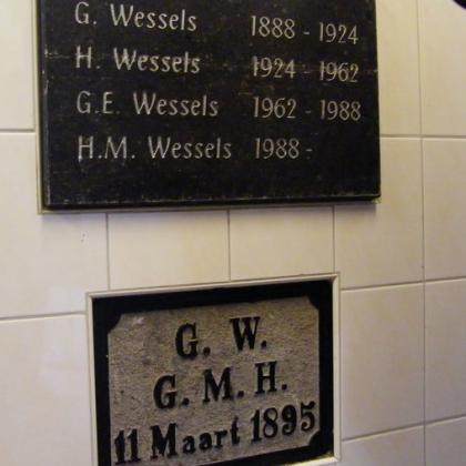 Bakker Wessels in Deventer gulden boek