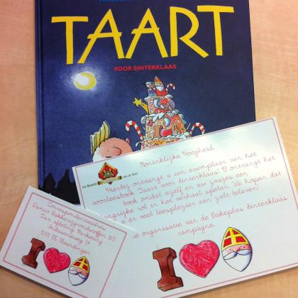 Prinsesjes krijgen boek 'Taart voor Sinterklaas
