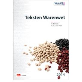 Boek 'Teksten Warenwet 2014 – 2015' in het schap