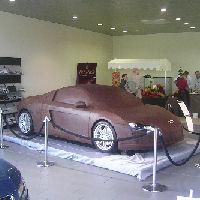 Een 'echte' Audi R8 van chocolade