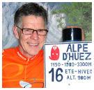 Bakker Dick Verkerk beklimt Alpe d'Huez 6x op 1 dag voor goed doel