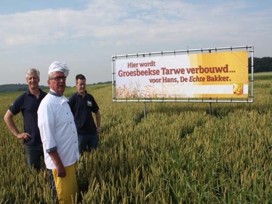 Tarwe uit eigen dorp voor Echte bakker Hans