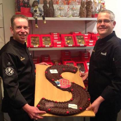 Chocolatiers Koelman steunen Pieten bij wereldrecordpoging