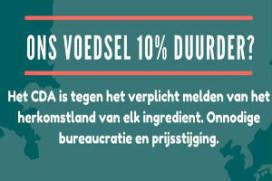 CDA hekelt Europese bureaucratie voor voeding