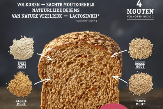 Ireks komt met innovatie: 4 Mouten Volkoren Brood