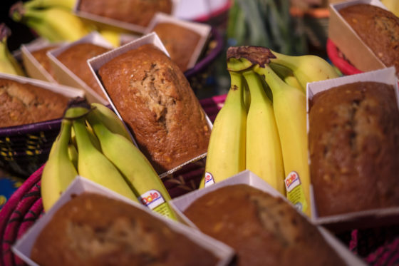 Bake for Life liet op de beurs authentiek Afrikaans bananenbrood proeven.  (C) Roel Dijkstra / Joep van der Pal    Bakkersvak 2018 in de Evenementenhal Gorinchem