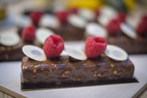 Brownie de luxe van Vandemoortele.   (C) Roel Dijkstra / Joep van der Pal    Bakkersvak 2018 in de Evenementenhal Gorinchem