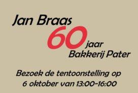 Jan Braas viert diamanten jubileum bij Bakkerij Pater
