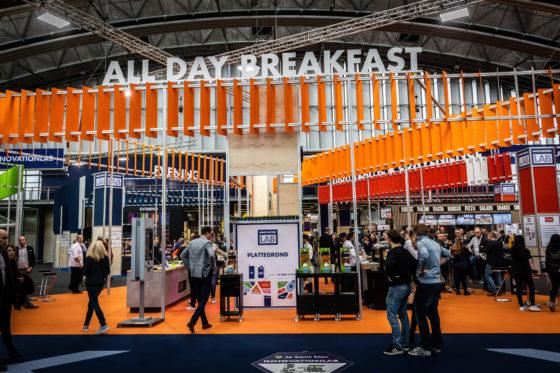 Dobla presenteerde zichzelf ook in het Innovation Lab met All Day Breakfast.  Foto's: Diederik van der Laan