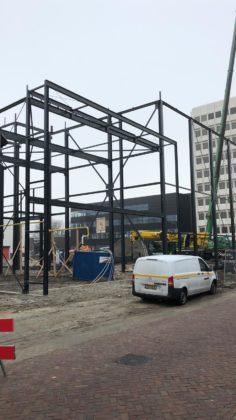 In Vlaardingen verrijzen een nieuw magazijn en de Food Innovation Academy (FIA). Foto: Royal Steensma