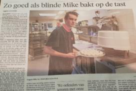 Blinde bakker bij Brakenhoff gaat viral