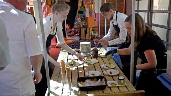 IJsjes met broodsmaak van Ola Lanko zijn verkrijgbaar op de markt bij de expo.