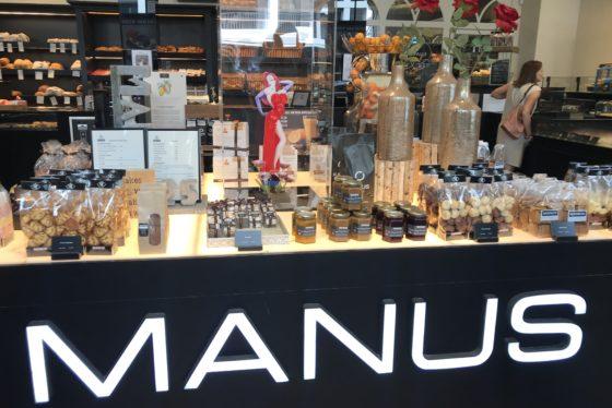 Een impressie van de winkel van Patisserie Manus in Brasschaat.