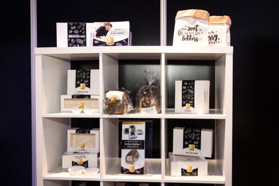 Nieuwe verpakkingslijnen van het Echte Bakkersgilde, dat voor het eerst een stand had op deze beurs.