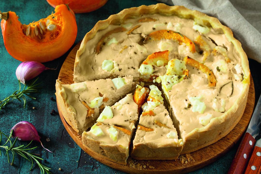Een echt herfstgerecht: cheesy pumpkin quiche